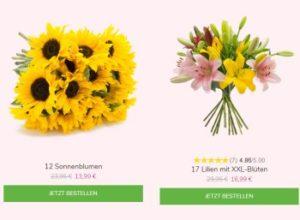 Blumeideal: Strauß aus zwölf Sonnenblumen für 18,94 Euro frei Haus