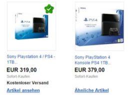 Ebay: Sony Playstation 4 mit einem TByte für 319 Euro frei Haus