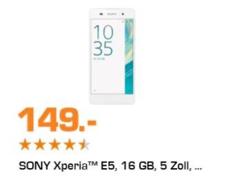 Saturn: LTE-Smartphone Sony Xperia E5 für 149 Euro frei Haus