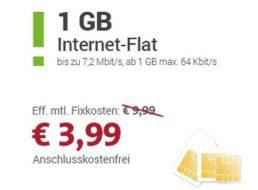 Sparhandy: Telekom-Datenflat mit einem GByte für 3,99 Euro