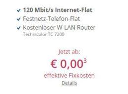 Sparkabel: Internet-Flat mit 120 MBit/s und Festnetz-Flat zum Nulltarif