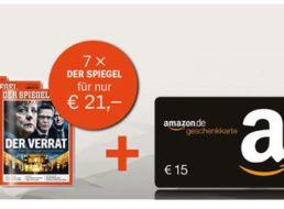 Spiegel: Sieben Ausgaben für sechs Euro frei Haus dank Amazon-Gutschein
