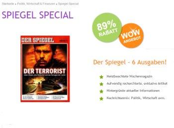 Der Spiegel: Sechs Ausgaben für zusammen 2,95 Euro frei Haus