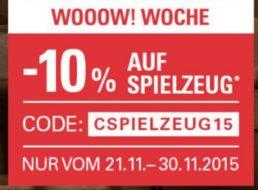 Ebay: Zehn Prozent Spielzeug-Rabatt bis Ende November 2015