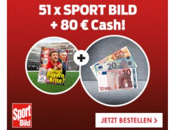 Sportbild: Jahresabo mit 51 Heften für 16,90 Euro frei Haus