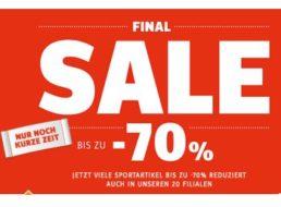 Sportscheck: Gratis-Versand und Sale mit bis zu 70 Prozent Rabatt