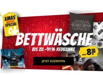 """Sportspar: Bettwäsche-Sets mit Disney- und """"Star Wars""""-Motiven für 8,88 Euro"""