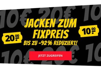 Sportspar.de: Jacken zum Pauschalpreis von 10 oder 20 Euro