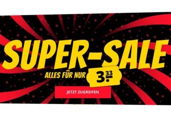 Sportspar: Sale mit 600 Markenartikeln für je 3,33 Euro