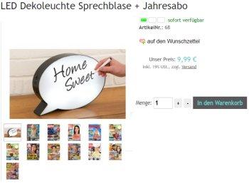 Exklusiv: LED-Sprechblase und Jahres-Zeitschriftenabo für 9,99 Euro