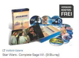 """Saturn: """"Star Wars – Complete Saga I – VI"""" auf Blu-ray für 59,99 Euro frei Haus"""