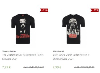 Outlet46: Film-Shirts (Star Wars, Superman, Der Pate) für 7,99 Euro frei Haus