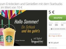 Starbucks: Rabatt von fünf Euro via Groupon bis Ende des Jahres