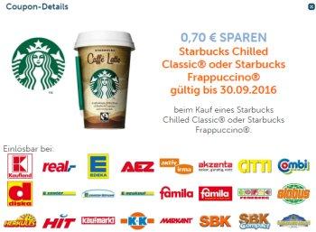 Nur bis Freitag: 70 Cent Starbucks-Rabatt in zahlreichen Shops