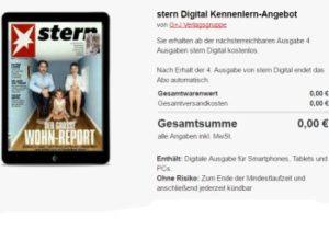 Gratis: Stern-Digitalabo mit automatischem Ende für 0 Euro