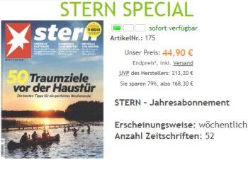 """Stern: Jahresabo für 44,90 Euro, """"Spiegel"""" im Halbjahresabo für 39,90 Euro (Bild: Verlag)"""