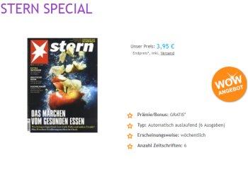 """Wieder da: Sechs Ausgaben """"Stern"""" mit automatischem Ende für 3,95 Euro"""