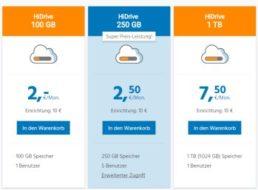 Strato: 250 GByte Cloudspeicher für 2,50 Euro im Monat