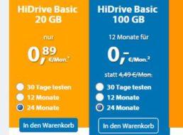 Strato: HiDrive Cloud-Speicher mit 100 GByte für monatlich 2,66 Euro