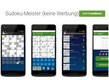 Gratis: Sudoku-Meister im Play-Store für 0 statt 3,99 Euro