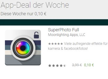 "Google Play: App ""Super Photo Full"" für 10 Cent statt 3,99 Euro"