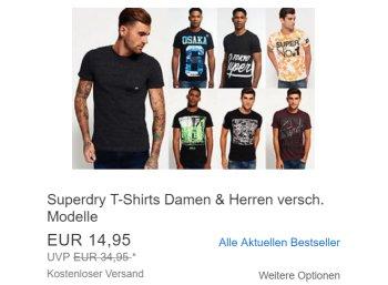 Superdry: T-Shirts für 14,95 Euro frei Haus via Ebay