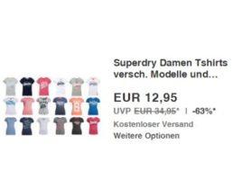 Superdry: Damen-T-Shirts für 10,36 Euro frei Haus dank Gutschein