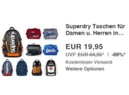 Ebay: Superdry-Taschen und -Rucksäcke für 19,95 Euro frei Haus
