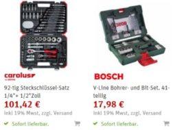 SVH24.de: Sehr gut bewerteter Steckschlüsselsatz von Carolus für 65,92 Euro