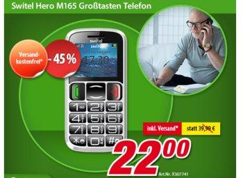 """Völkner: Seniorenhandy """"Switel Hero M165"""" für 22 Euro frei Haus"""