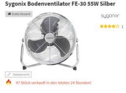Völkner: Chrom-Ventilator mit 30 Zentimeter Durchmesser für 25 Euro frei Haus