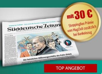 SZ: Wochenendabo für 43,90 Euro mit Gutscheinen über 40 Euro