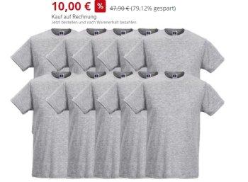 Knaller: 10 T-Shirts von Russel für 14,95 Euro frei Haus