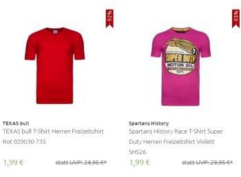 Outlet46: 111 T-Shirts und Tank-Tops ab 1,99 Euro frei Haus