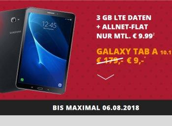 Sparhandy: Galaxy Tab A 10.1 LTE mit Datenflat zum Schnäppchenpreis