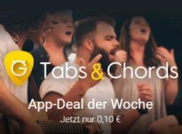 "App-Deal: ""Ultimate Guitar Tabs & Chords"" für 10 Cent statt 3 Euro"