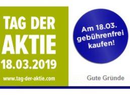 Tag der Aktie: Gebührenfrei kaufen am 18. März bei zahlreichen Brokern