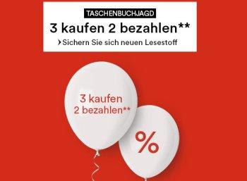 Thalia: Taschenbuchjagd mit drei Titeln zum Preis von zweien