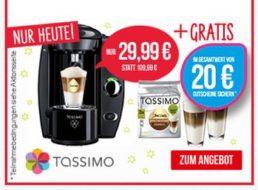 Tassimo: Fidelia mit WMF-Gläsern und 20 Euro-Gutschein für 29,99 Euro