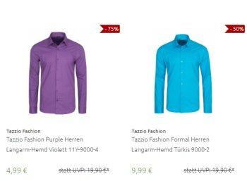 Outlet46: Hemden und Oberteile von Tazzio für 9,99 Euro