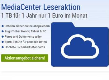 Cloud-Schnäppchen: 1 TByte bei GMX oder Web.de für einen Euro pro Monat