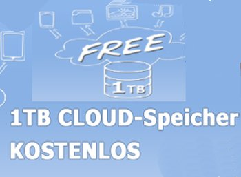 Gratis: Ein TByte Cloudspeicher auf deutschen Servern zum Nulltarif