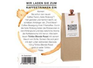 "Gratis: 100 Gramm ""Tchibo Blonde Roast"" via Nivea-Magazin"