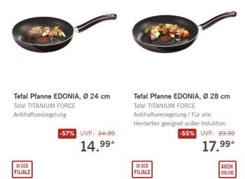 Lidl: Tefal-Pfannen für 14,99 und 17,99 Euro zu haben