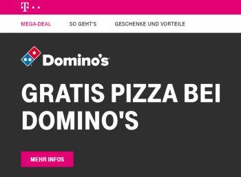 Gratis: Pizza bei Domino's für Telekom-Kunden zum Nulltarif