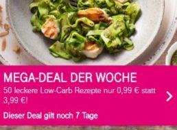 Telekom: 50 Low-Carb-Rezepte von GU für 0,99 statt 3,99 Euro