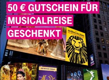 Telekom: Musical-Reisen mit 50 Euro Rabatt über die Megadeal-App