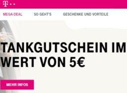 Gratis: Tankgutschein über 5 Euro für Telekom-Kunden geschenkt