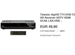 Pünktlich zur EM: DVB-T2-Receiver digiHD TT4 für 49,90 Euro frei Haus