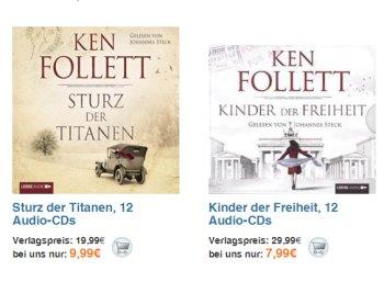 Terrashop: Bestseller-Hörbücher von Follett, King & Co ab 2,99 Euro frei Haus